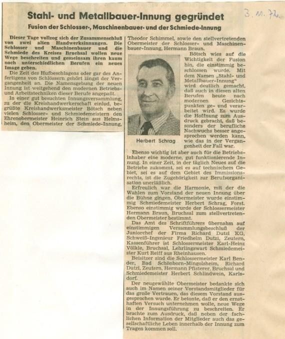 Gründungsbericht (BNN 1972)